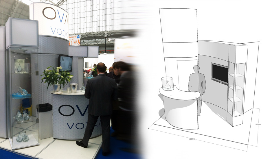 Exhibition Stand Tenders : Oval vodka