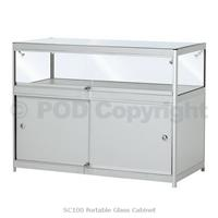Portable Exhibition Case : Portable glass counters folding glass showcases portable glass