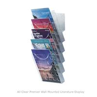 All Clear Wall Mounted Literature Dispenser