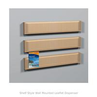 Shelf Style Wall Mounted Leaflet Dispenser