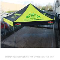 PROTEX Hex Instant Shelter with Printed Walls