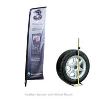 Feather Banner with Wheel Mount