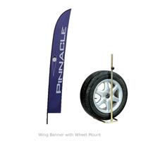 Wing Banner with Wheel Mount