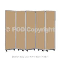 1500mm Easy Clean Mobile Room Dividers