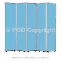 1800mm Easy Clean Mobile Room Dividers