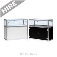 Glass Jewellery Cabinet Hire