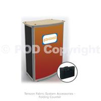 Tension Fabric System Folding Counter