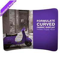Formulate Curved Backdrop Display