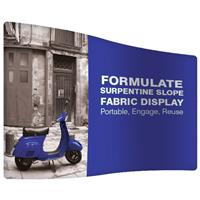 Formulate Serpentine Slope Fabric Display