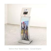 Vertron Floor Tablet Display - Curved Graphic