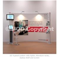 d2 4 Panel Display Media Stand