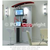 d2 Single Panel Display Media Stand