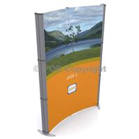 d400 3x2 Curved Pop Up Stand Kit