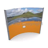 d400 3x4 Curved Pop Up Stand Kit