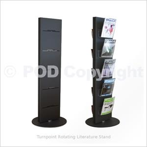 Exhibition Literature Stand : Turnpoint rotating literature stand revolving literature stand