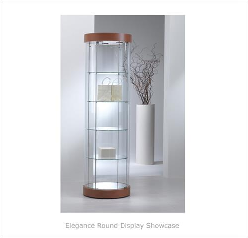 Elegance Round Display Showcase Round Glass Display Case