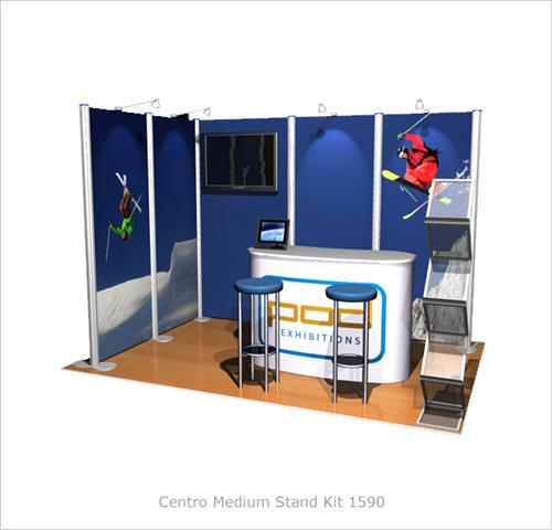 Modular Exhibition Stands Tall : Centro medium stand kit