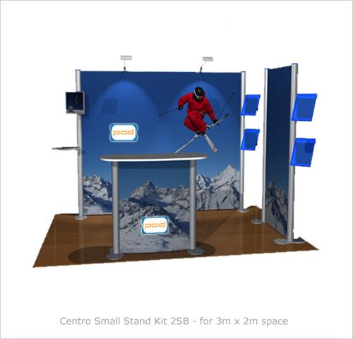 Small Modular Exhibition Stands : Centro small stand kit sb modular graphic display pod