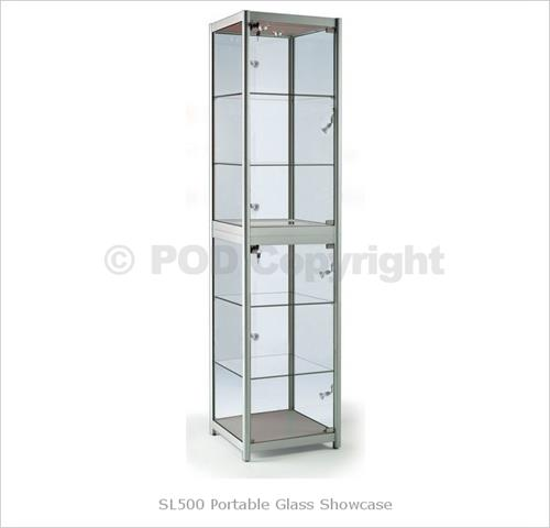 Portable Cabinets For Display : L portable glass cabinet display cabinets
