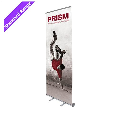 Portable Exhibition Banners : Prism wide roller banner stand banners pod