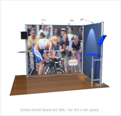 Modular Exhibition Stands Tall : Centro small exhibition stand kit sa
