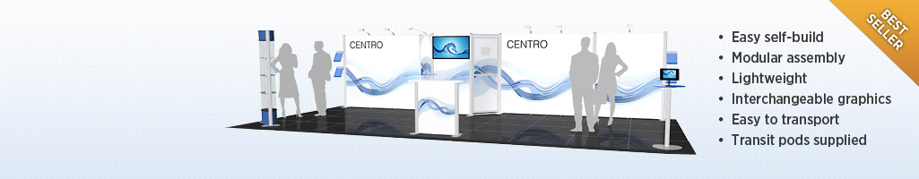 Centro Configurations - Our best selling MODULAR SYSTEM - very cost effective & easy to reconfigure for different events.