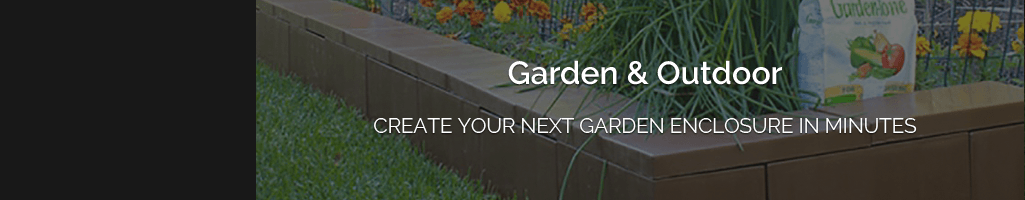 Outdoor structures, garden enclosures, borders and edging with EverBlock durable blocks