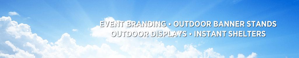 OUTDOOR DISPLAYS --- All of our outdoor display equipment and structures are designed with portability and visual impact in mind.