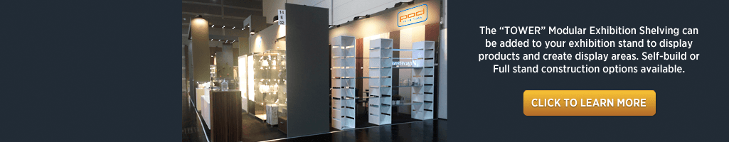 Display your products using our Modular shelving system for Exhibitions, Retail and Corporate